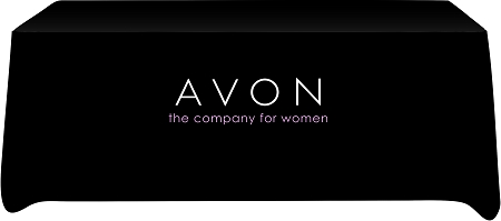 Avon Event Tablecloth With Logo For Trade Shows And Sales