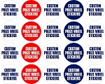 Amway Prize Wheel Sticker Set for 16 Wedge Prize Wheel