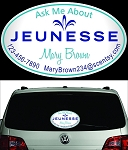 Jeunesse Personalized Perforated Vehicle Back Window Decal