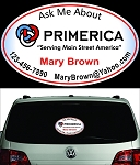 Primerica Personalized Perforated Rear Window Decal