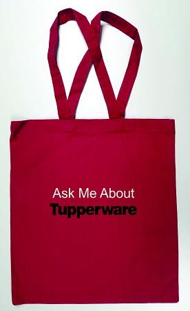 tupperware tote bag with handles pink